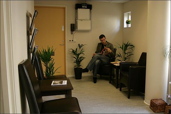 Väntrum för kiropraktor i Göteborg