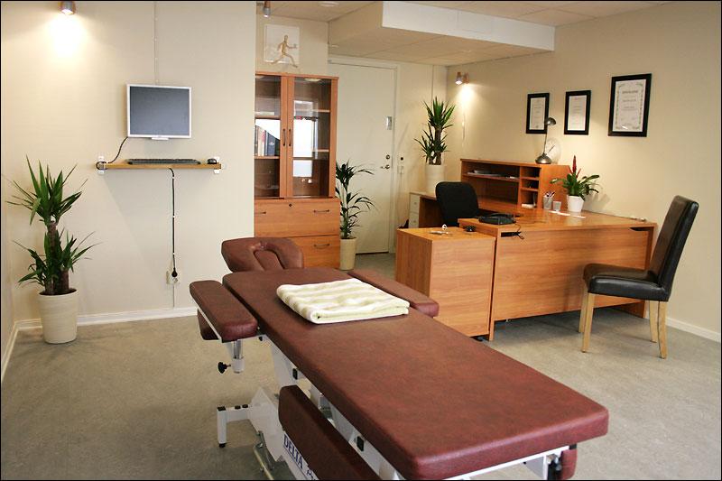 Behandlingsrum kiropraktor